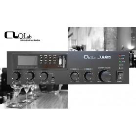 Amplificatore mixer PA 65W con con MEDIA PLAYER Tuner FM, Lettore/Registratore MP3 su USB/SD card e Bluetooth