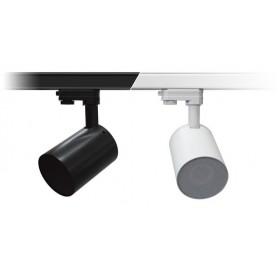 Diffusore acustico per filodiffusine da installazione su binari di illuminazione