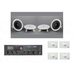 Impianto audio musica diffusa 4 ambienti con regolazione volume indipendente di zona