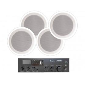 Impianto audio di filodiffusione ambienti da 60mt2 Negozi, Bar, Ristoranti, Uffici, Ambienti pubblici