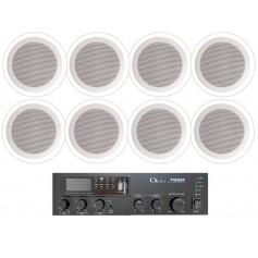 Impianto audio di filodiffusione ambienti da 140mt2 Negozi, Bar, Ristoranti, Uffici, Ambienti pubblici