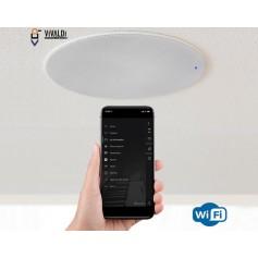 Impianto audio WI-FI per filodiffusione con diffusori da incasso