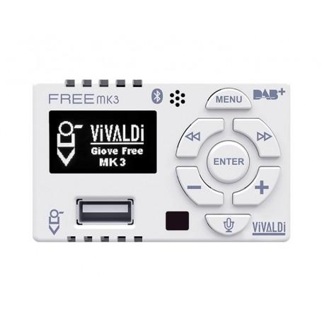 Amplificatore multimediale da incasso per scatola 503 con radio DAB+, radio FM, Usb e Bluetooth integrati