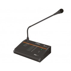 Base microfonica multizona, paging, remota, da tavolo,