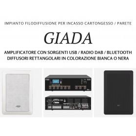 Impianto filodiffusione GIADA personalizzabile 4/6/8/10 diffusori con finitura bianca o nera