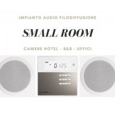 Sistema small room Diffusione sonora da incasso per Camere Hotel - B&B - Uffici