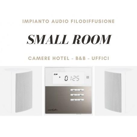 Sistema small room Diffusione sonora da parete per Camere Hotel - B&B - Uffici