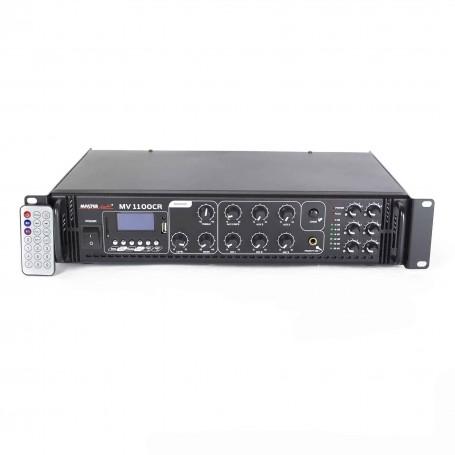 Amplificatore 60 Watt 6 zone con RADIO - USB / SD per sistema di filodiffusione audio