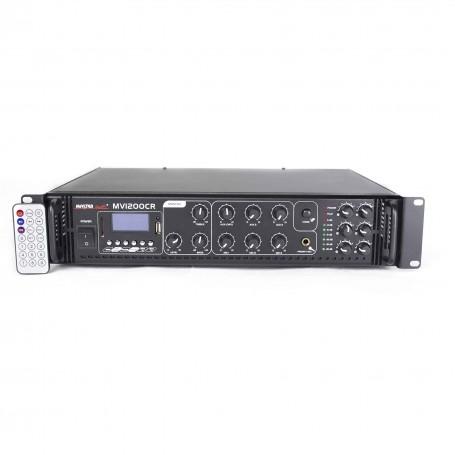 Amplificatore 120 Watt con RADIO - USB / SD per sistema di filodiffusione audio