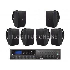 Sistema Audio Filodiffusione commerciale da parete