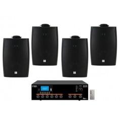 Sistema Audio filodiffusione Amplificatore Radio/USB/SD/Bluetooth + 4 Diffusori