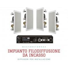 Impianto audio PRESSURE con diffusori da incasso rettangolari per Lounge BAR, Negozi di abbigliamento