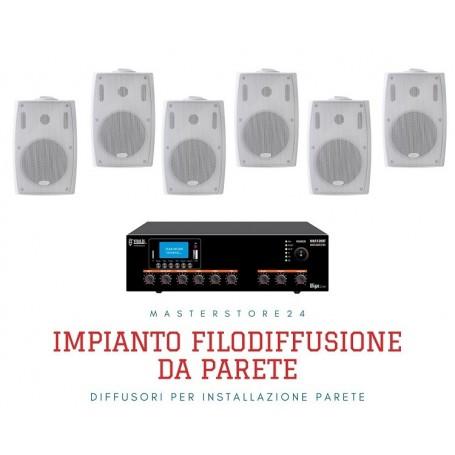 Sistema Audio filodiffusione Amplificatore Radio/USB/SD/Bluetooth + 6/8 Diffusori