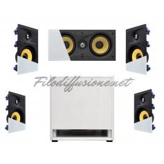 Impianto Home Cinema Dolby con diffusori FRAMLESS e Subwoofer da pavimento