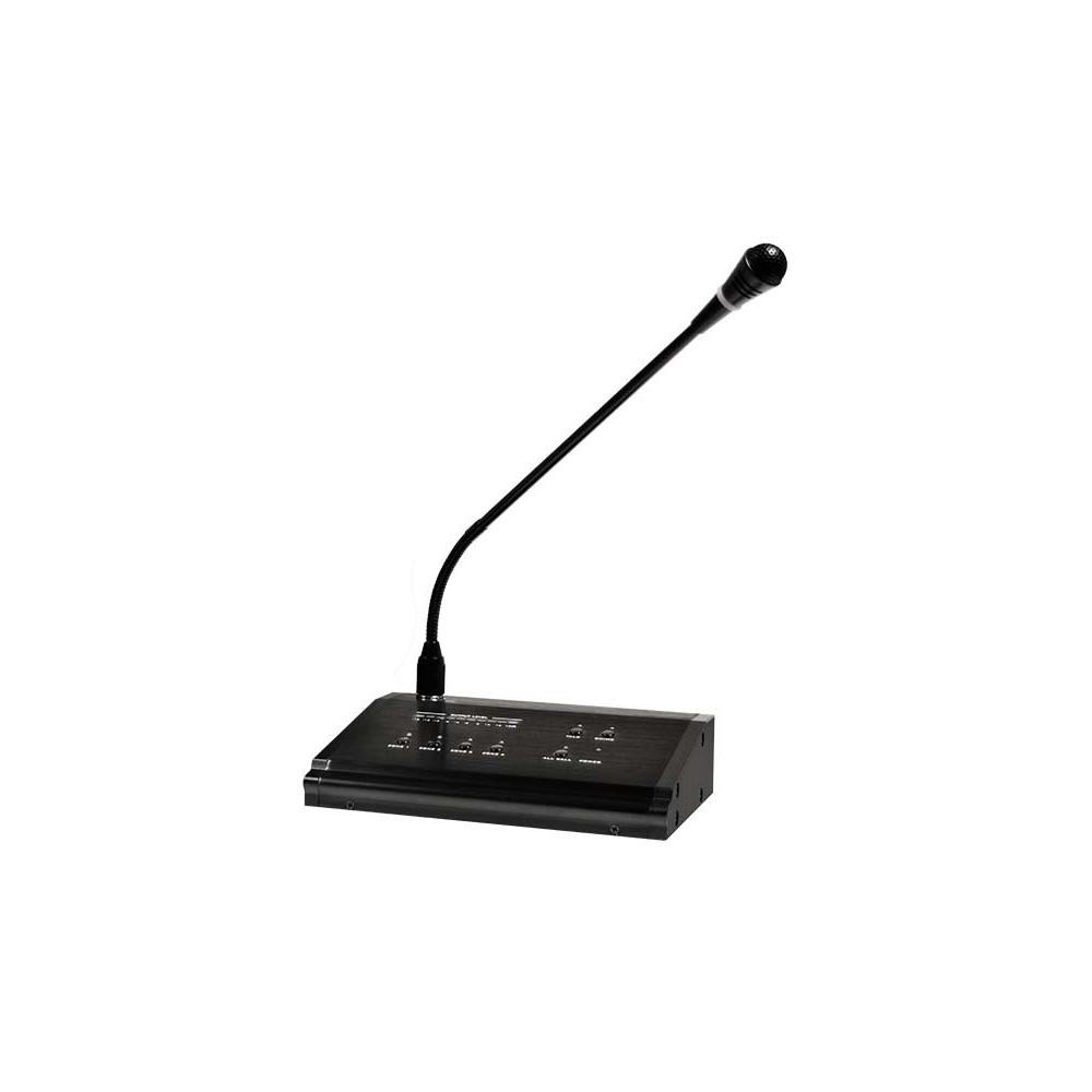 Ulisse bm4 microfono da tavolo multizona dedicato per amplificatore mz4120s - Microfono da tavolo wireless ...