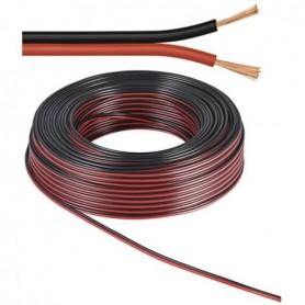 Cavo piattina rosso/nero 2*1.5mmq - rocchetta da 100 metri