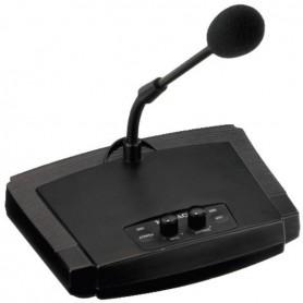 Microfono PA Base da tavolo con collo di cigno per annunci