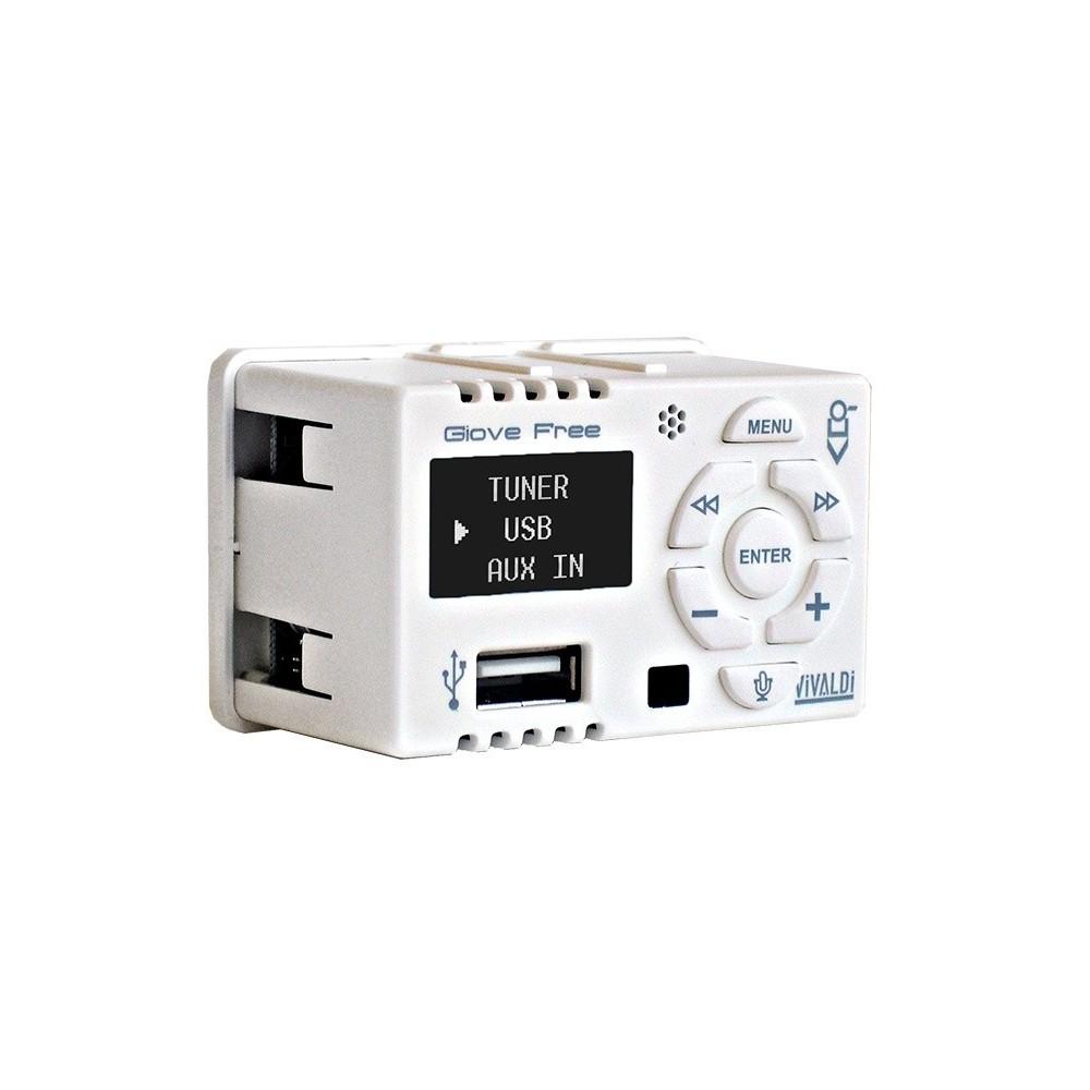 Sistema per filodiffusione su scatola 503 amplificatore con sorgenti bluetooth e due diffusori - Filodiffusione casa ...