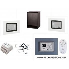 Sistema per filodiffusione su scatola 503 - Amplificatore e due diffusori da incasso