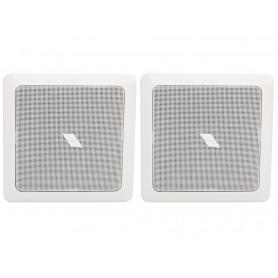 Diffusore 2 vie woofer 16.5 cm da incasso quadrato 8 ohm - 100V per cartongesso (COPPIA)