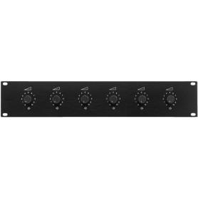 Attenuatori - Regolatore di volume a 6 zone per altoparlanti PA 100V - 50W x 6