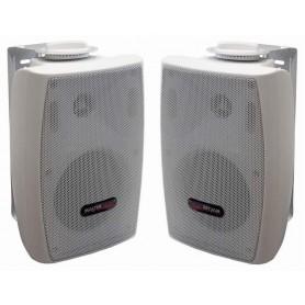 Diffusore acustico bianco 2 vie con staffa da parete 20W - 8ohm/100V (COPPIA)
