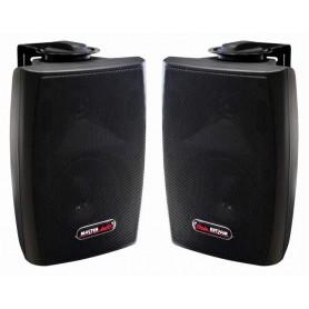 Diffusore acustico nero 2 vie con staffa da parete 20W - 8ohm/100V (COPPIA)