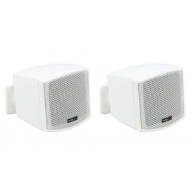 Mini diffusori da muro per filodiffusione musicale 6W - 100V/8hom - Bianchi (COPPIA)