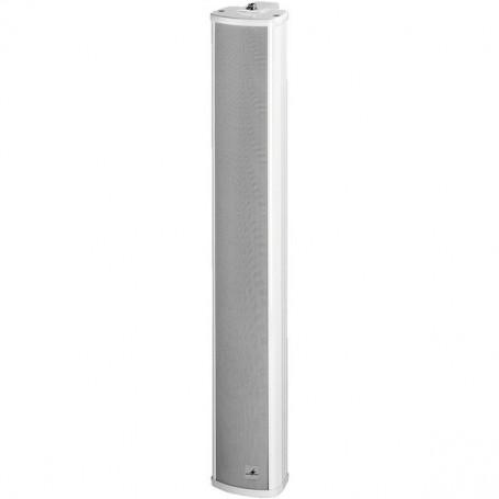 Colonna sonora struttura in alluminio con 8 altoparlanti 15W bianca